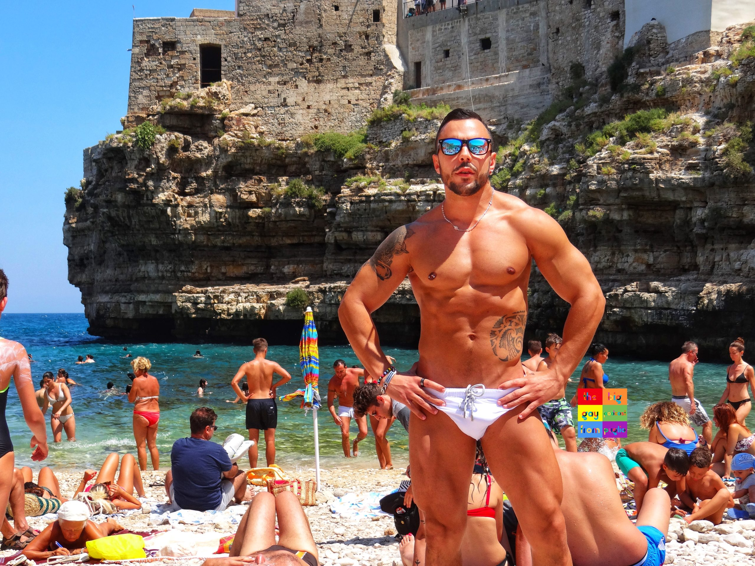 Hot Italian guys are proud to show off their well defined bodies on Puglia's beaches. The Big Gay Podcast from Puglia - the definitive guide to gay Puglia