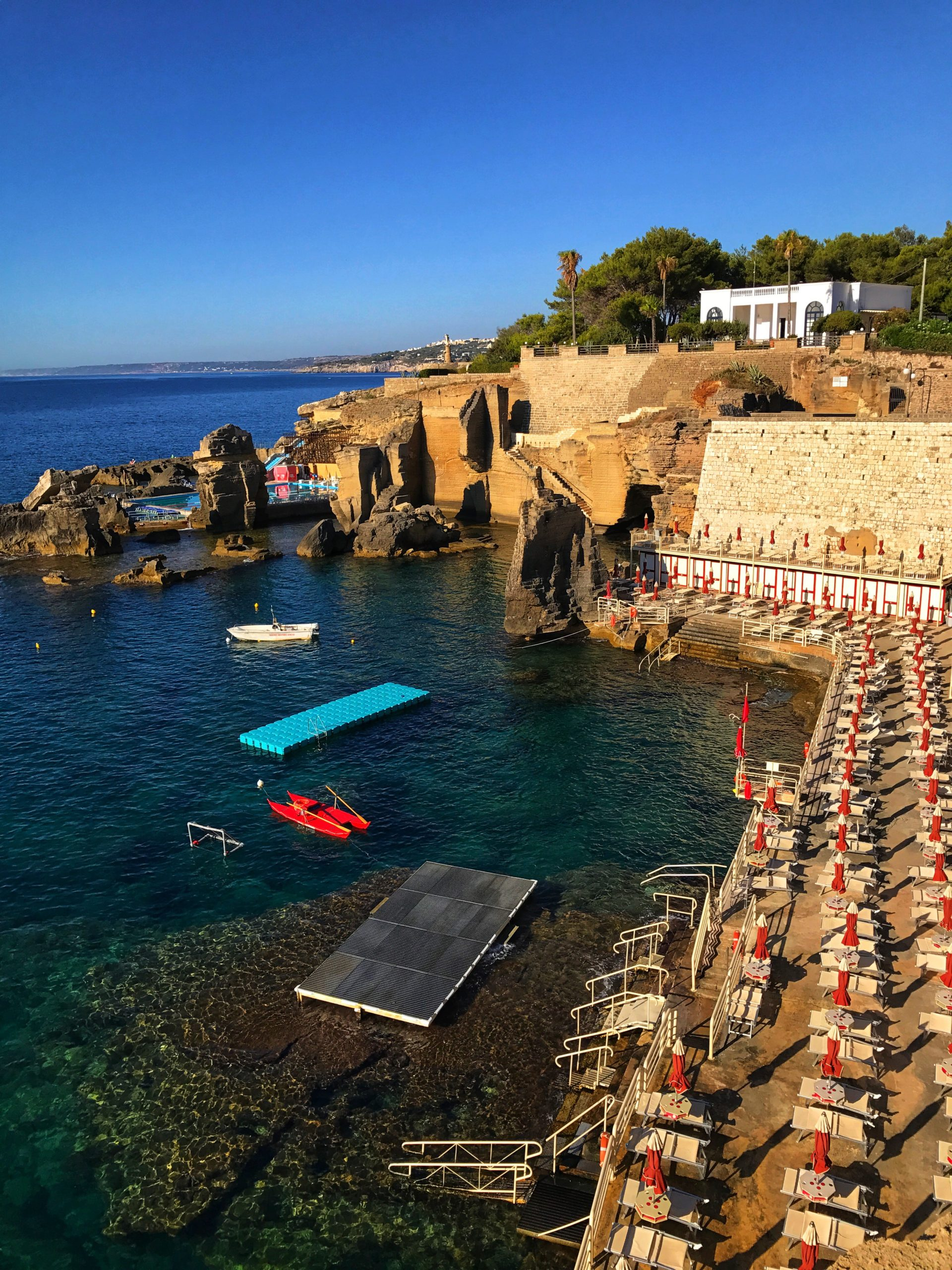 Santa Cesarea Terme in Salento, Puglia is visually stunning like Polignano a Mare, but less well known and less visited.