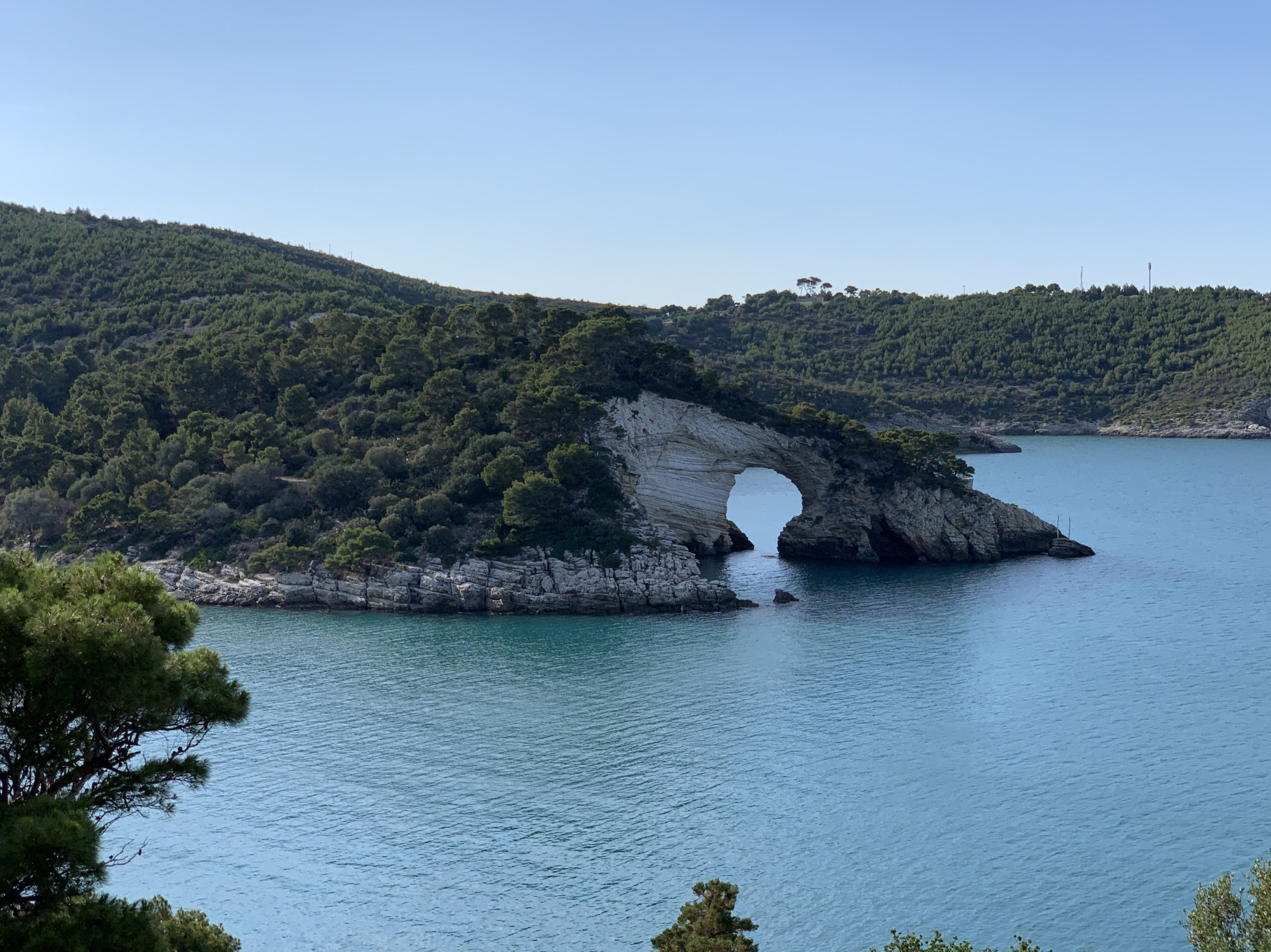The stunning Gargano coast with sea caves, stacks and coves.