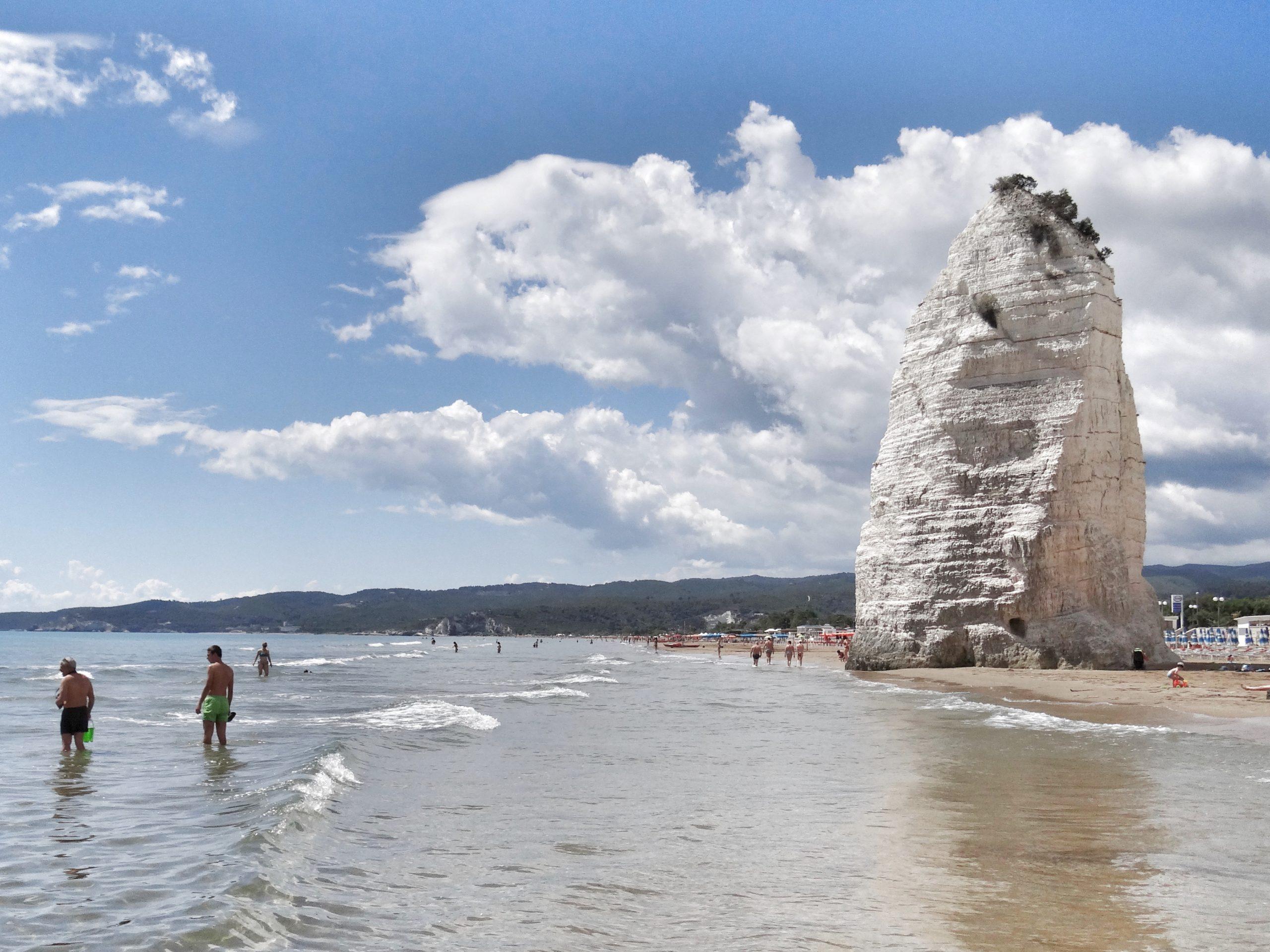 The legend of Cristalda and Pizzomunno tells the story of Puglia's most famous faraglione - a limestone sea stack - in Vieste.