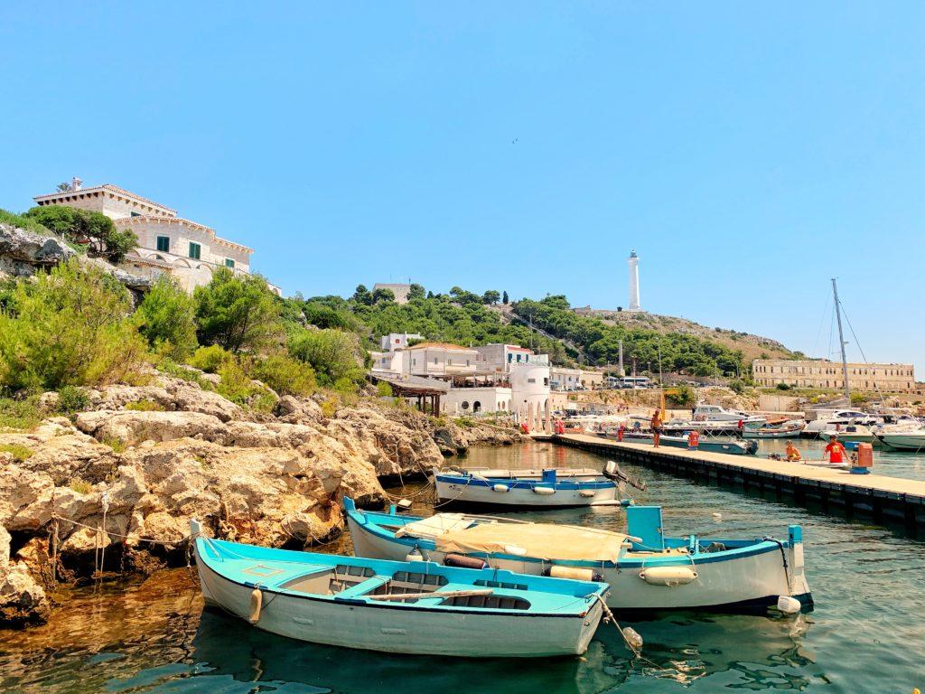 Blue boats, blue seas, blue skies - the wonderful Santa Maria di Leuca - one of Puglia's more exclusive destinations.