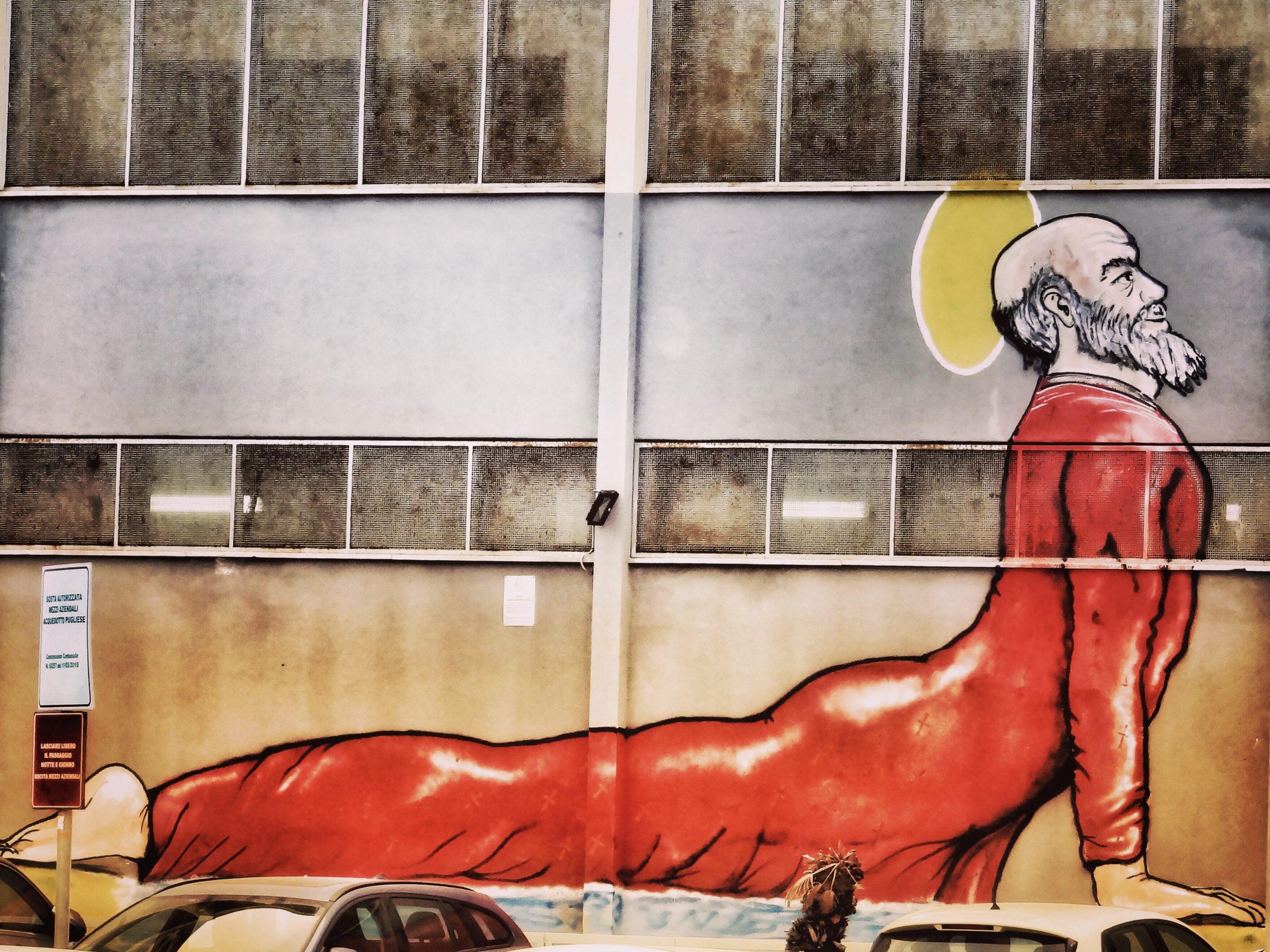 San Nicola Bari street art - the Saint Nicholas festival is one of Bari's biggest events