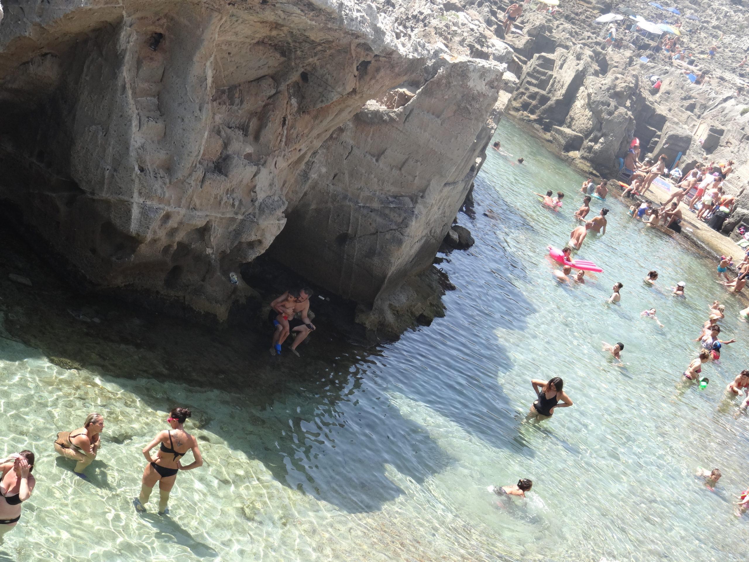 The natural swimming basin at Marina Serra in Salento, Puglia.