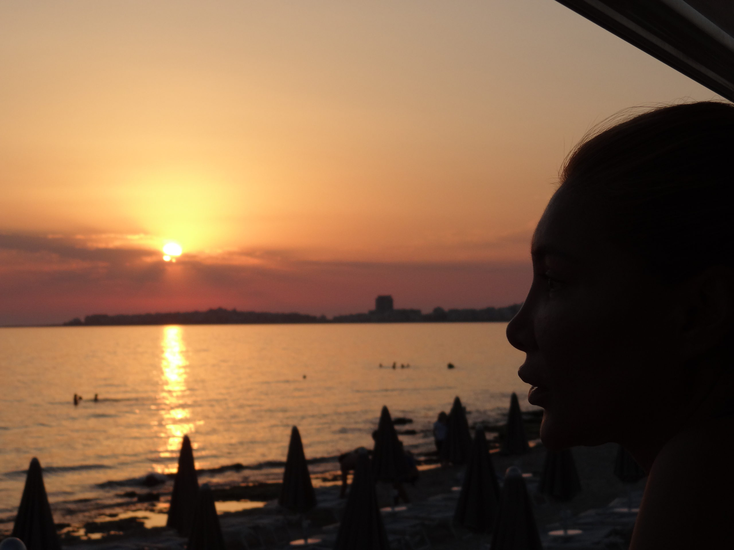 Sunset over Gallipoli - one of the best places to see the sunset in Puglia