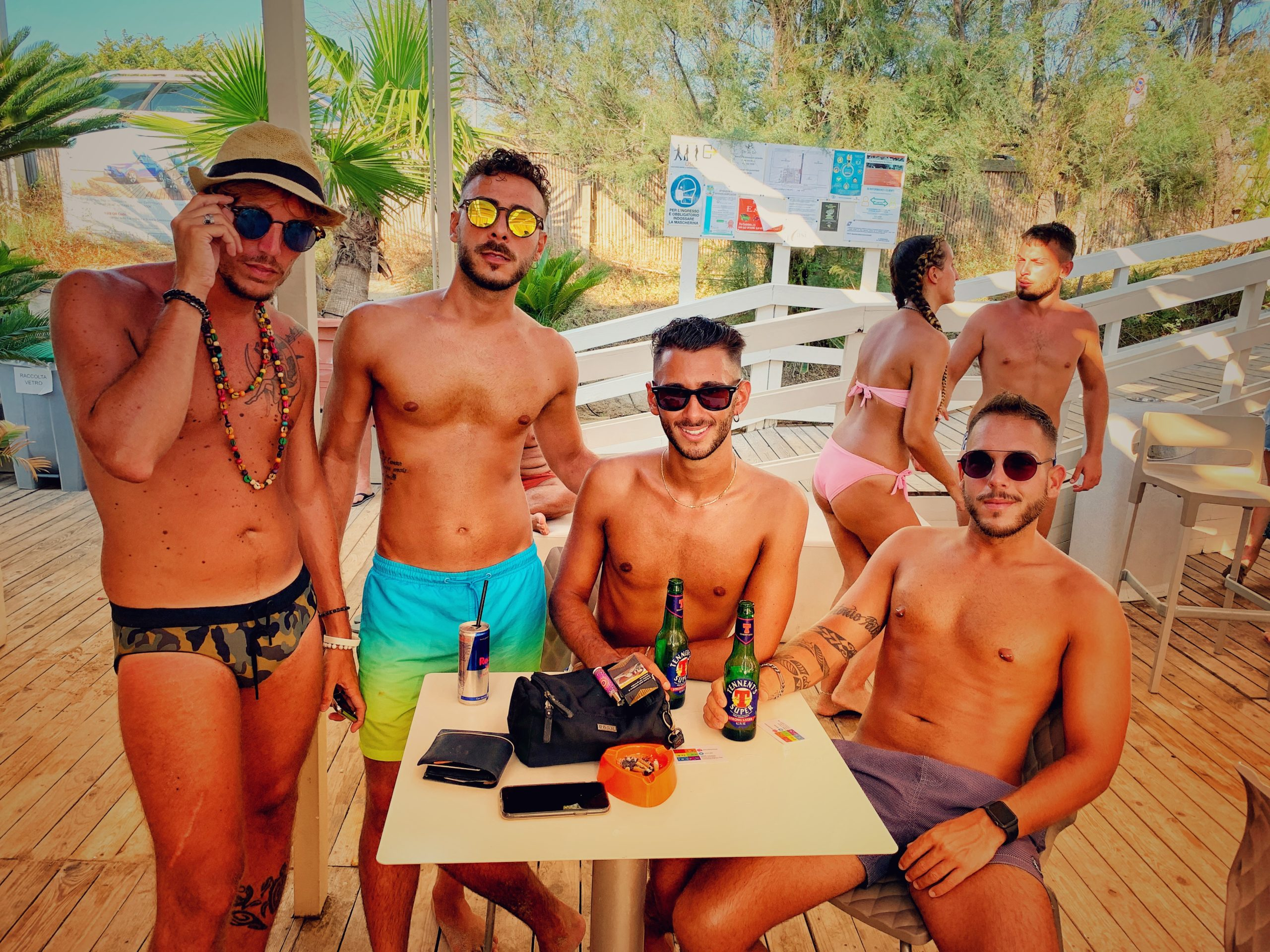 Puglia has many gay and gay friendly beaches. Por do Sol at Baia Verde, Gallipoli is a favourite of the Big Gay Podcast from Puglia, the definitive guide to gay Puglia.