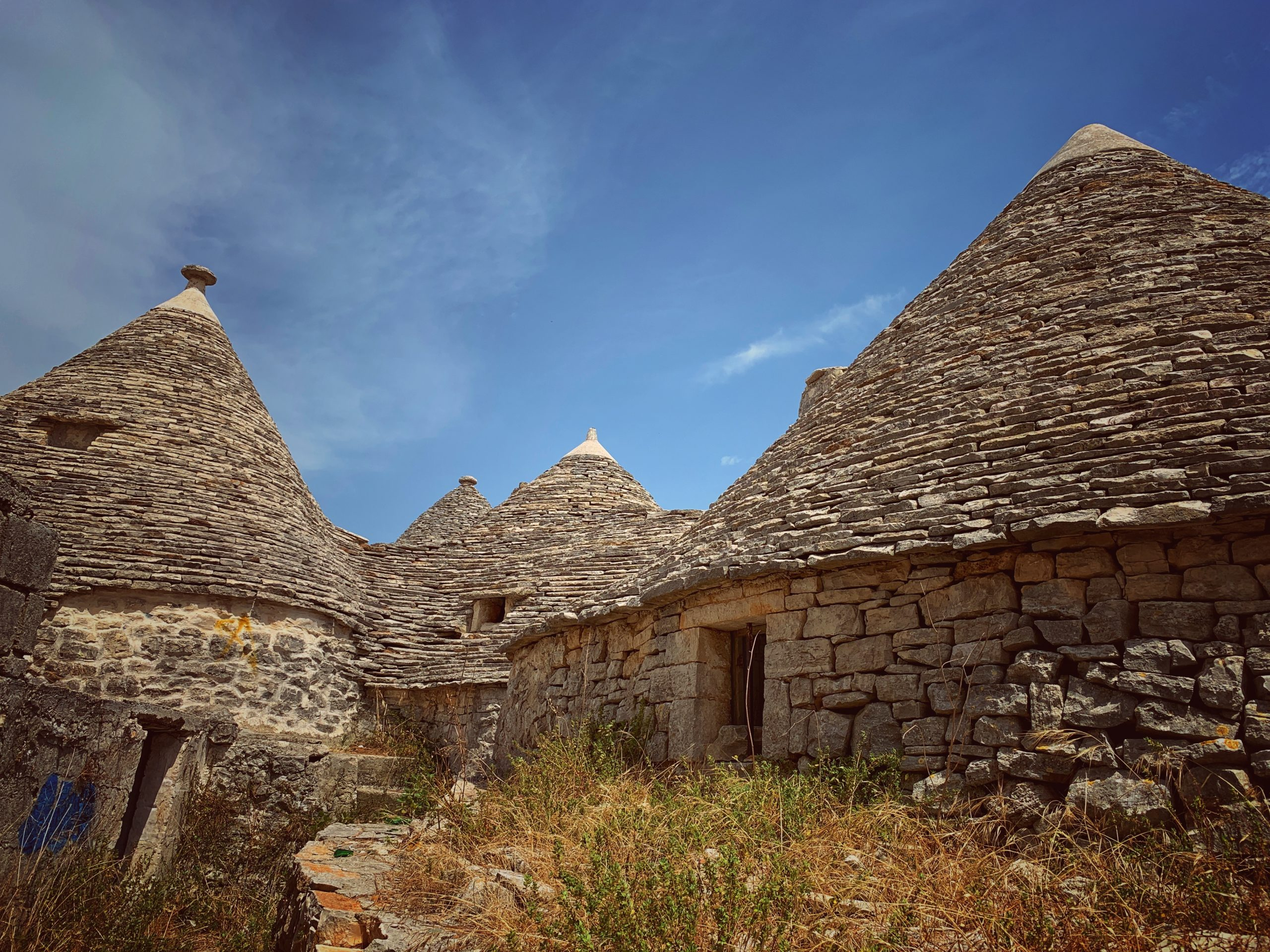 Most trulli in Alberobello have been renovated. Here is a trullo hidden away with a secret garden, away from the main trulli zone.