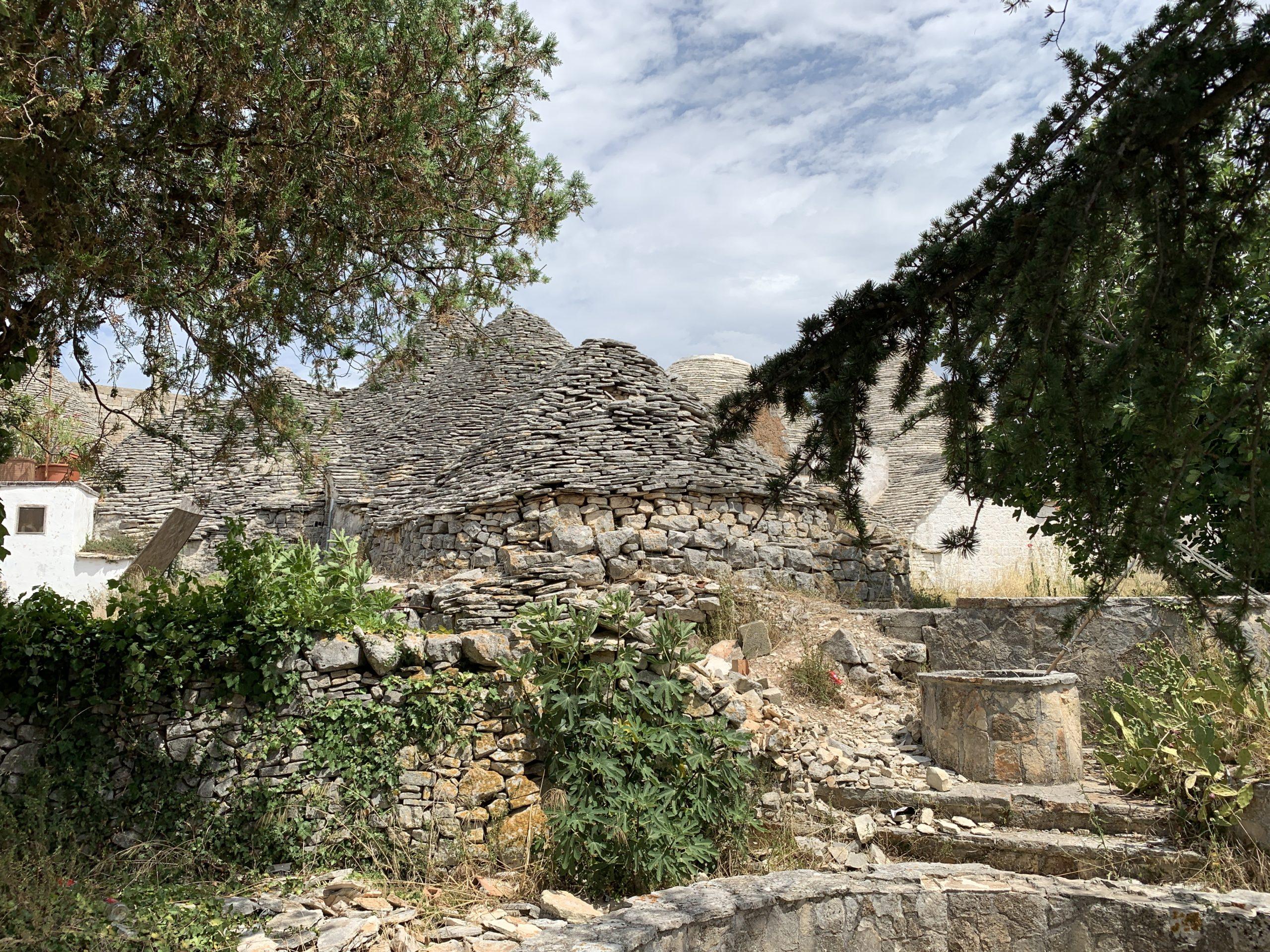 A trullo hidden away from the main tourist trulli zone of Alberobello hints at authentic Alberobello, in Puglia.