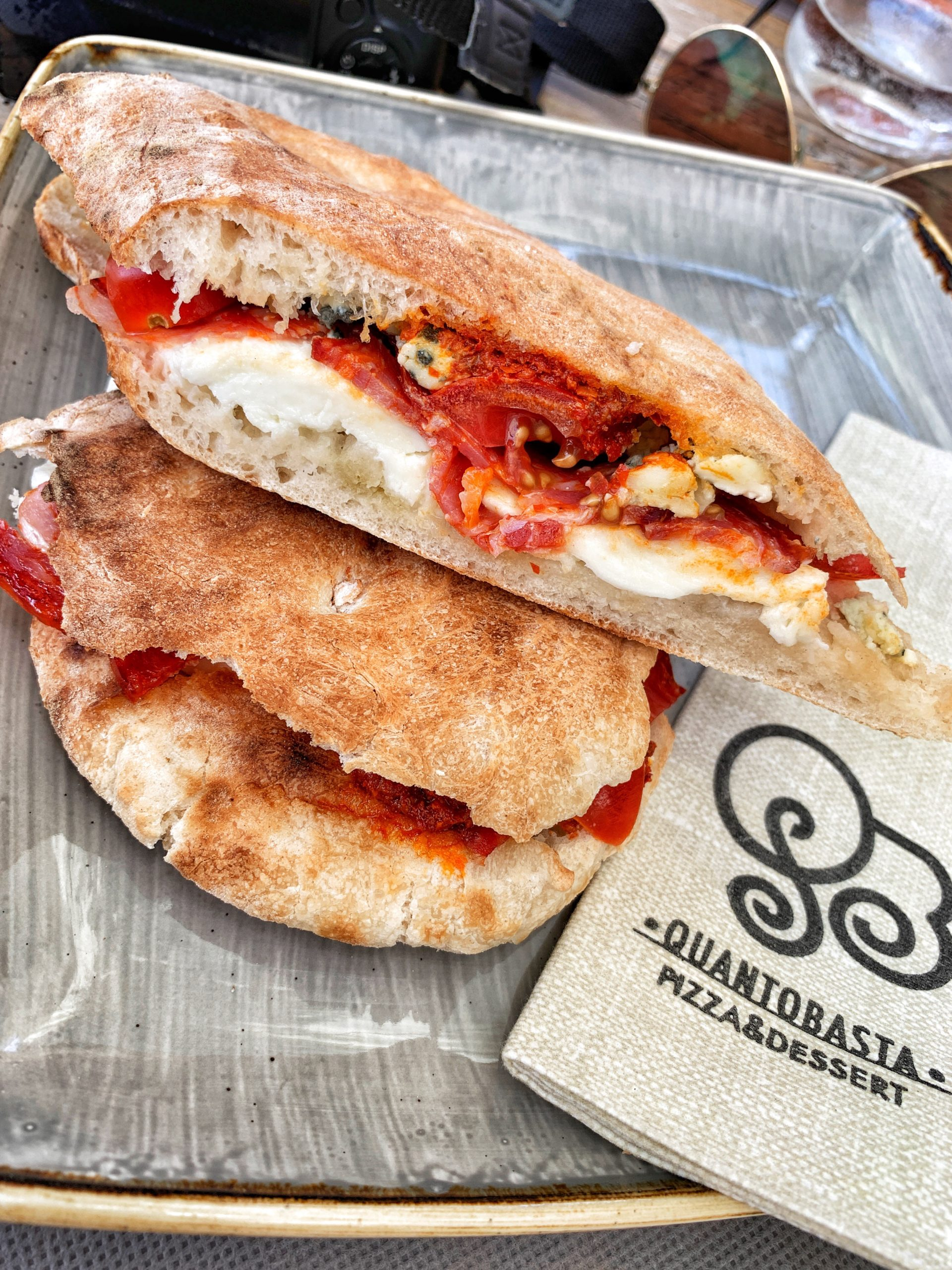 Puccia - a typical regional street food served up in Puglia