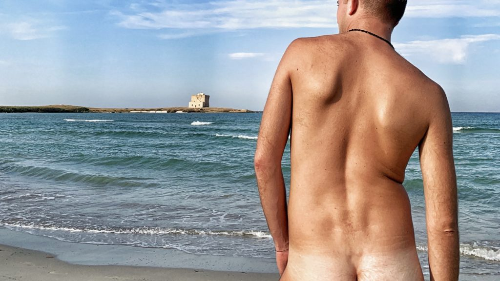 The gay and naturist / nudist beach section at Torre Guaceto near Ostuni in Puglia. The Big Gay Podcast from Puglia the definitive gay guide to Puglia.