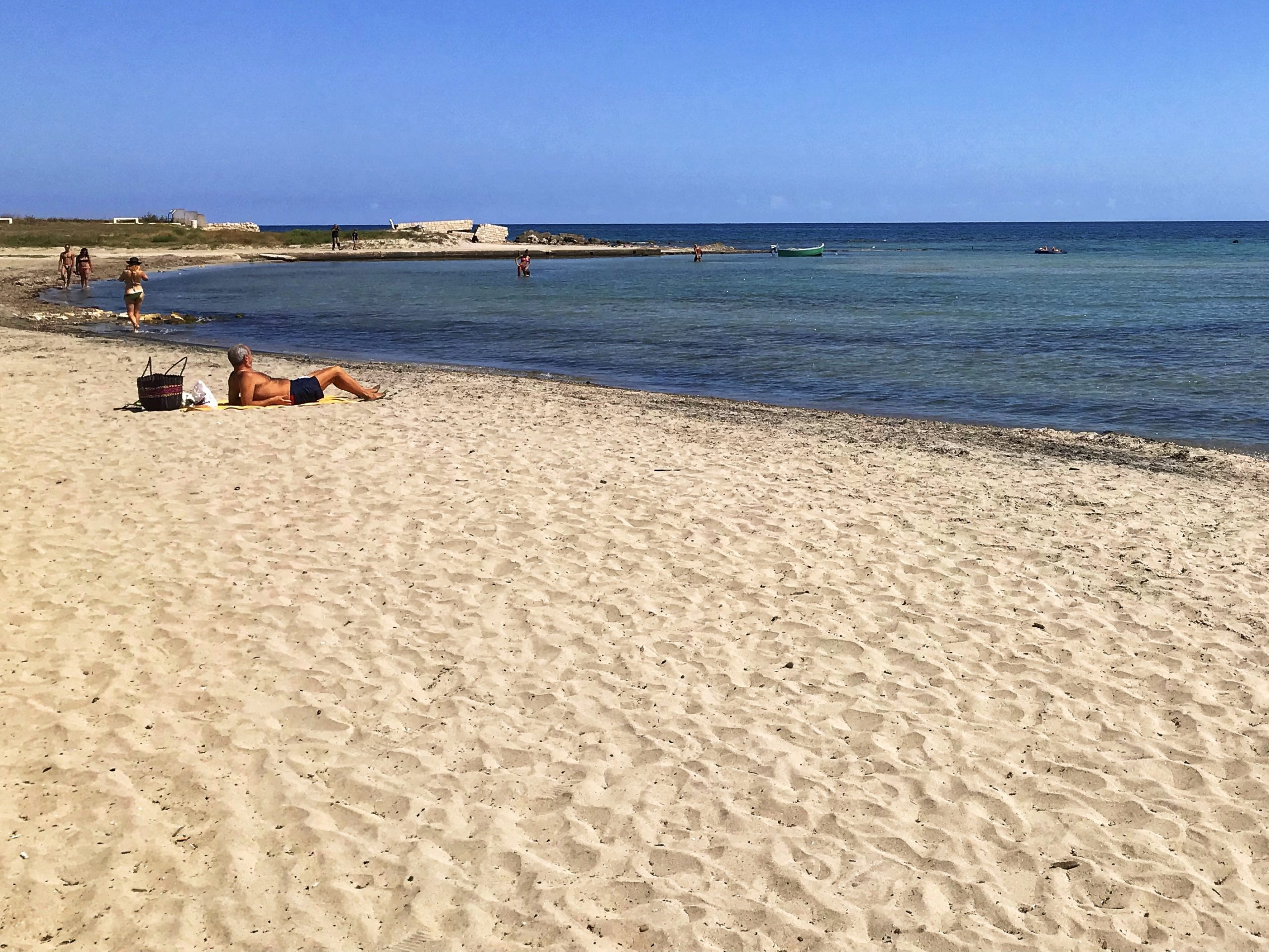 Puglia's best beaches are found in Salento and Gargano - this long sandy beach is the popular gay D'Ayala beach.