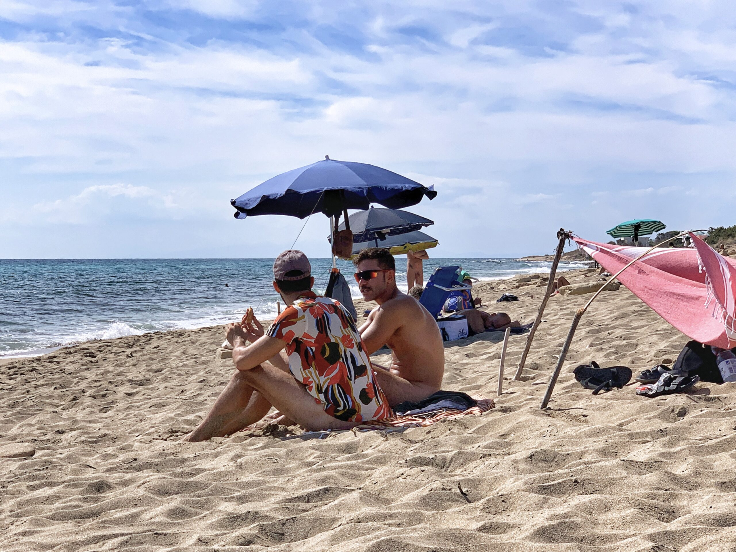 Spiaggia d'Ayala near Campomarino is one of Puglia's top nudist naturist gay beaches. Read the Big Gay Podcast from Puglia Guide to Gay Beaches in Puglia; packed full of masculine, hot Italian guys
