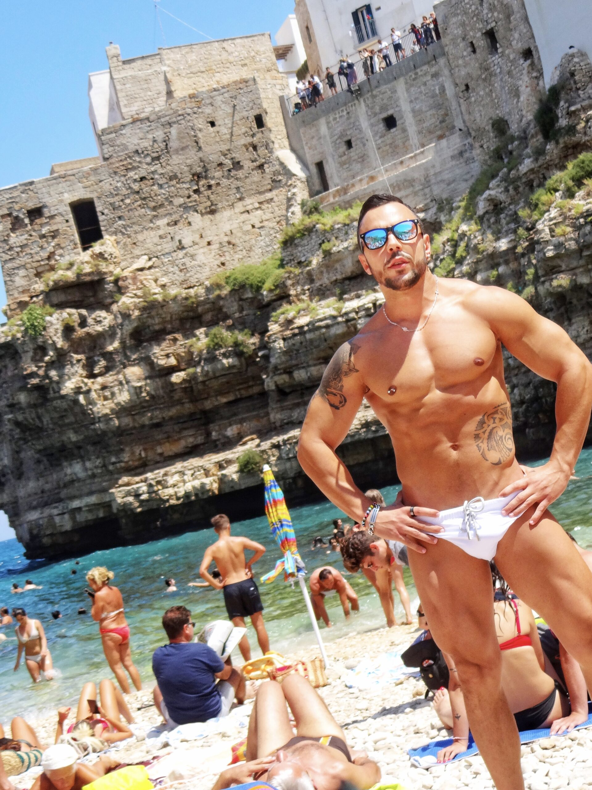 Polignano a Mare   Photo The Big Gay Podcast from Puglia the definitive guide to gay Puglia and its gay and nudist beaches.