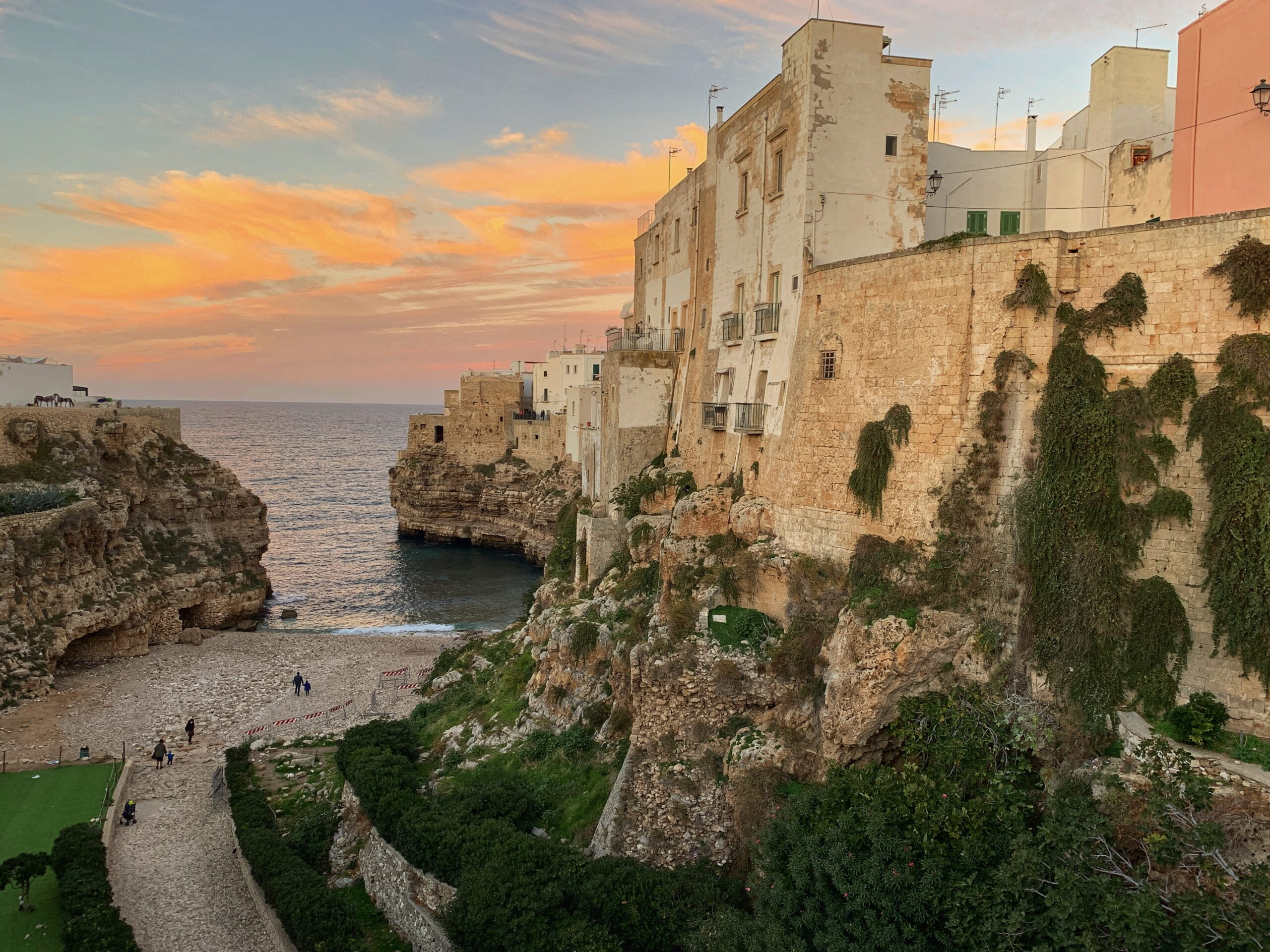 Polignano a Mare - the town with the iconic cliffs is a favourite of the Big Gay Podcast from Puglia gay travel guide.